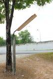 Straßenlaternen im ländlichen Gebiet Lizenzfreie Stockfotos