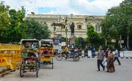 Straßenleben in altem Delhi, Indien lizenzfreies stockfoto