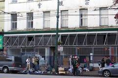 Straßenleben entlang Hasting-Straße Lizenzfreies Stockfoto