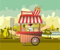 Straßenlebensmittel mit Popcorn Lizenzfreies Stockbild
