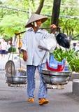 Straßenlebensmittelverkäufer in Ho Chi Minh, Vietnam Lizenzfreie Stockbilder