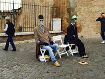 Straßenleistung Roms, Italien Stockbild