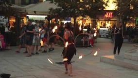 Straßenleistung in Zagreb, Kroatien stock video