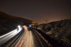 Straßenlichter in der Nacht Lizenzfreies Stockfoto