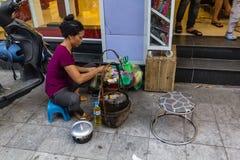 Straßenmahlzeitkochen Stockfoto