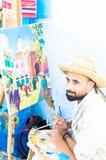 Straßenmaler stockfotografie