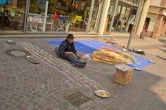 Straßenmaler Stockfotos