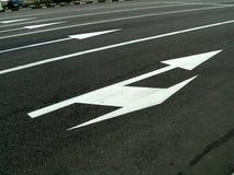 Straßenmarkierung lizenzfreies stockbild