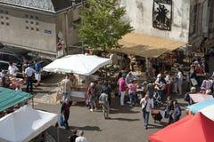Straßenmarkt in Blois Frankreich Stockfoto