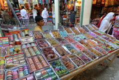 Straßenmarkt in Pakistan Stockbild
