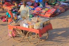 Straßenmarkt Straßenverkäufer Jodhpur India Stockfotos