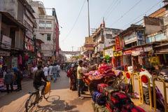 Straßenmarkt, Varanasi Stockfotos