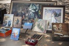 Straßenmarkt, verschiedene Gegenstände Lizenzfreies Stockfoto