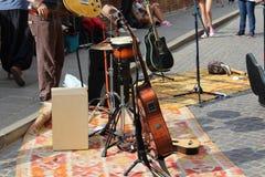 Straßenmusik stockfotos