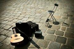 Straßenmusik Stockbild