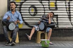 Straßenmusiker Lizenzfreie Stockbilder