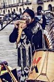 Straßenmusiker der amerikanischen Ureinwohner Lizenzfreie Stockfotografie