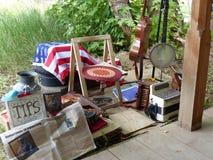 Straßenmusiker Gitarre, Banjo, Akkordeon stockfoto