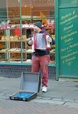 Straßenmusiker mit accordian Lizenzfreie Stockfotografie