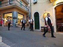 Straßenmusiker in Sizilien Italien Stockfotografie