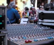 Straßenmusikerscheinen Stockfotografie