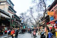 Straßennahrung an der moslemischen Straße in Xian Stockbilder