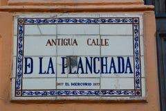 Straßennamenzeichen valparaiso chile Lizenzfreie Stockfotografie
