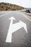 Straßenpfeil Jebel Akhdar Lizenzfreie Stockbilder