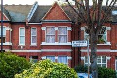 Straßenplatten in West-London stockfoto