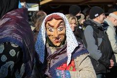 Straßenprozession am deutschen Karneval Fastnacht Lizenzfreies Stockbild