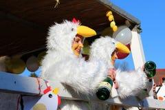 Straßenprozession am deutschen Karneval Fastnacht Stockfotografie