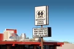 Straßenrand-Kaffee-Zeichen Stockfotografie