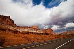 Straßenrand in Utah Lizenzfreies Stockbild
