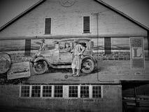 Straßenrandgrafik auf Lincoln Highway in West-Pennsylvania lizenzfreies stockfoto
