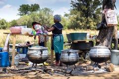 Straßenrandlebensmittelstall in Südafrika lizenzfreies stockbild