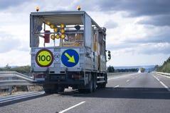 Straßenreparatur Stockbilder