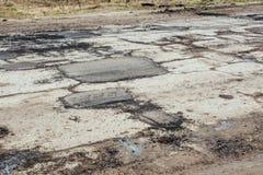 Straßenreparatur in Russland stockbilder