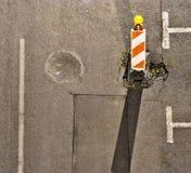 Straßenreparaturkonzept Lizenzfreie Stockfotos