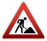 Straßenreparaturzeichen stock abbildung