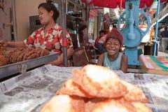 Straßenrestaurant Stockfotos