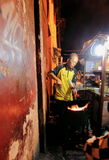 Straßenrestaurant in Jogyakarta stockfotografie