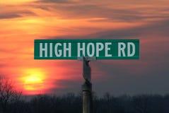 Straßenschild der großen Hoffnung Stockfotografie