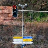 Straßenschild in Deutschland Stockbilder