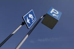 Straßenschild für zahlendes Parken Lizenzfreies Stockfoto