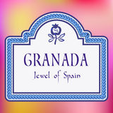 Straßenschild Granadas Spanien vektor abbildung