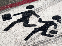 Straßenschild - Kindkreuzung Lizenzfreies Stockfoto