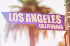 Straßenschild Los Angeless Kalifornien Lizenzfreies Stockfoto