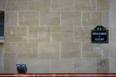Straßenschild in Paris Stockfoto