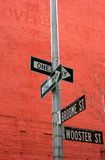 Straßenschilder in Soho Lizenzfreie Stockfotografie