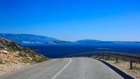 Straßenseeseite Kroatien Stockbild